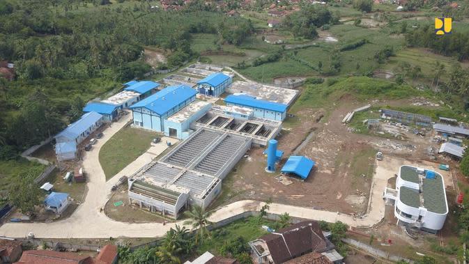 Kementerian PUPR tengah membangun Sistem Penyediaan Air Minum (SPAM) Kota Bandar Lampung (dok: PUPR)