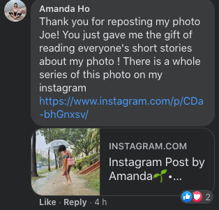 Amanda Ho thanks the actor. (PHOTO: Screenshot)
