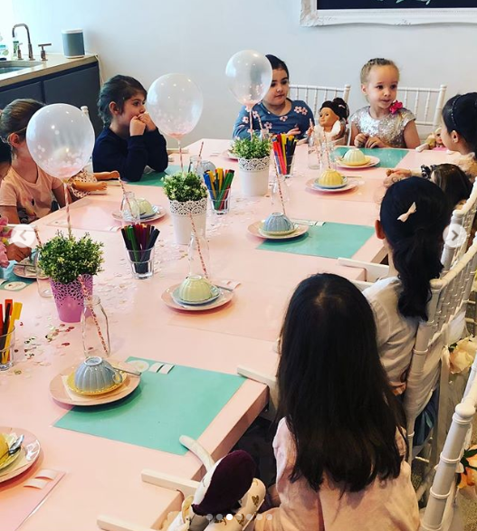 Fifi Box's daughter Trixie pictured at her 'big sister' party ahead of baby Daisy's arrival