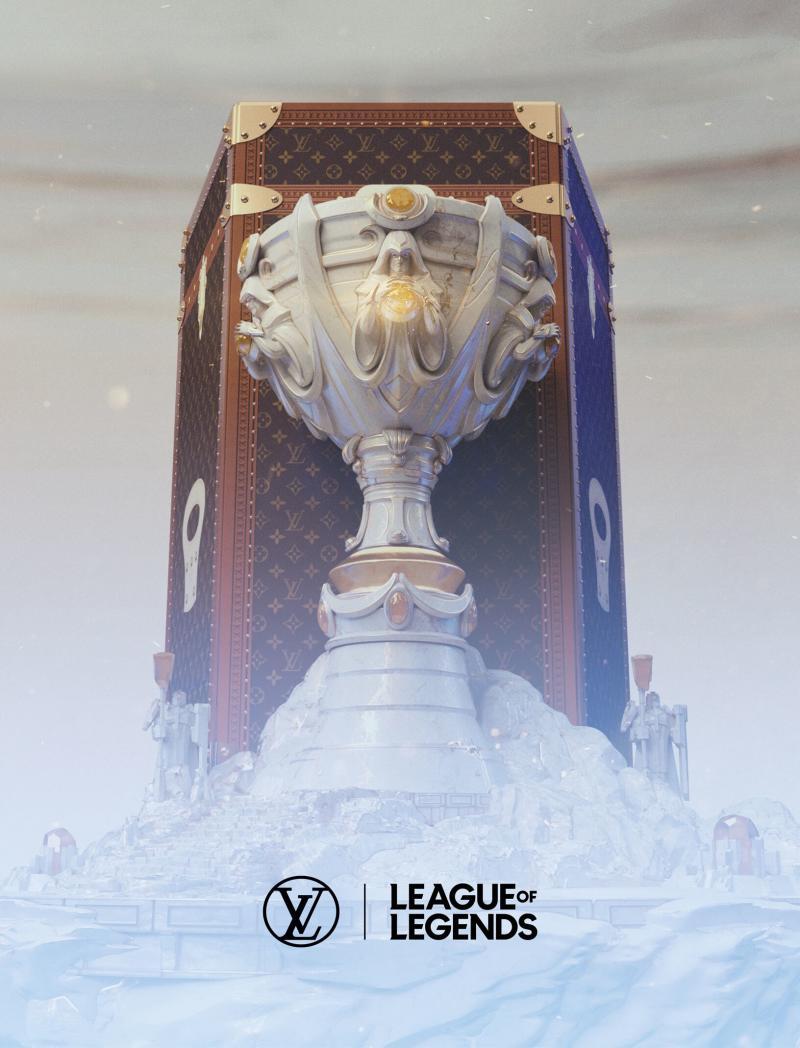 Louis Vuitton enters eSports via a new luxury trunk that holds the League of Legends trophy.