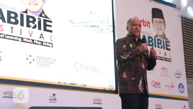Ilham Akbar Habibie pada acara Indonesia Education Forum di Jakarta, Jumat (18/10/2019). Liputan6.com/Keenan Pasha