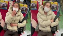 【有片】外籍金髮女「拒罩囂張比中指」 台鐵列車長怒了拒載報警