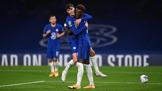 Sarangkan Setengah Lusin Gol, Chelsea Hancurkan Tim Kasta Kedua