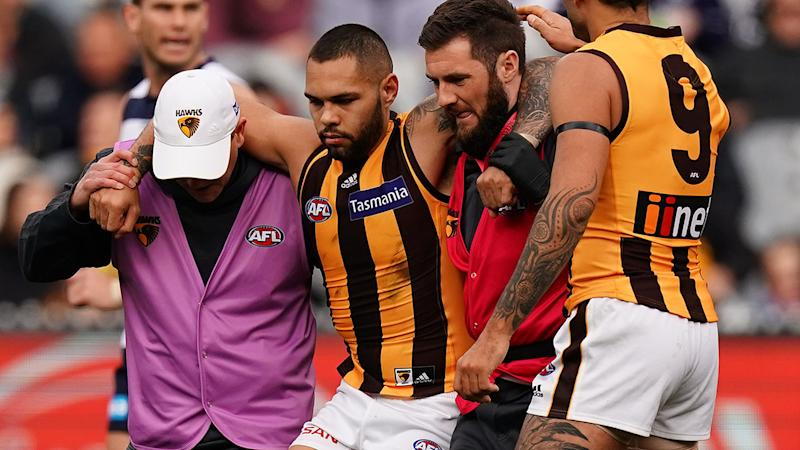 Jarman Impey was helped from the field after the awful moment. (Photo by Scott Barbour/Getty Images)