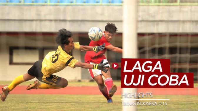 VIDEO: Highlights 2 Uji Coba Timnas Indonesia U-16 di Stadion Patriot Candrabhaga pada Juli 2020