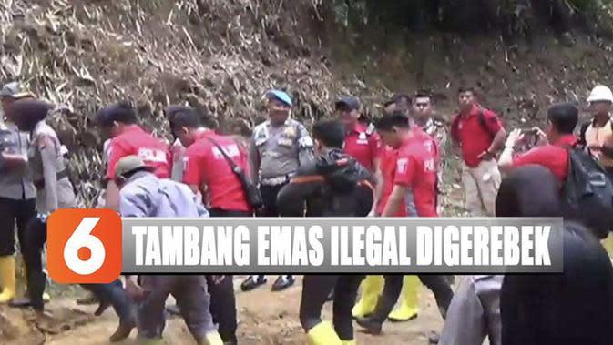 Suara Letusan Tembakan Warnai Penggerebekan Lokasi Penambangan Emas Liar di Bogor
