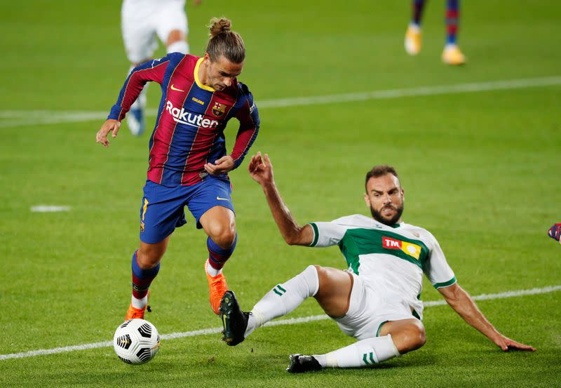 Griezmann strike gives Barca third friendly win in a row
