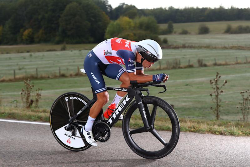 LA PLANCHE FRANCE SEPTEMBER 19 Richie Porte of Australia and Team Trek Segafredo during the 107th Tour de France 2020 Stage 20 a 362km Individual Time Trial stage from Lure to La Planche Des Belles Filles 1035m ITT TDF2020 LeTour on September 19 2020 in La Planche France Photo by Michael SteeleGetty Images