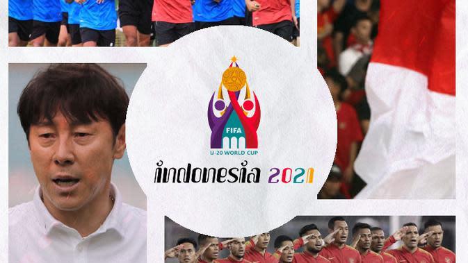 Kolase - Timnas Indonesia, U-19, Shin Tae-yong, Piala Dunia U-20 2021 (Bola.com/Adreanus Titus)