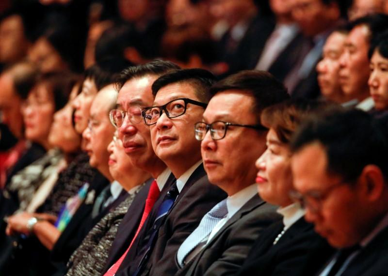 Hong Kong's Commissioner of Police Chris Ping-keung Tang attends the ceremonial opening of the legal year at City Hall in Hong Kong