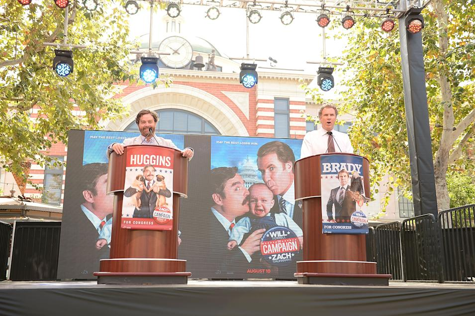 "Press Conference For The Launch Of Warner Bros. Pictures' ""The Campaign"" Whistle Stop Tour"