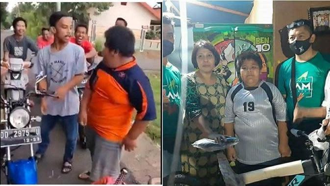 Dapat Banyak Hadiah, Ini 5 Fakta Terbaru Kasus Bullying Penjual Jalangkote di Sulsel (sumber: Twitter.com/pakaluru_mks dan Instagram.com/garudarevolution)