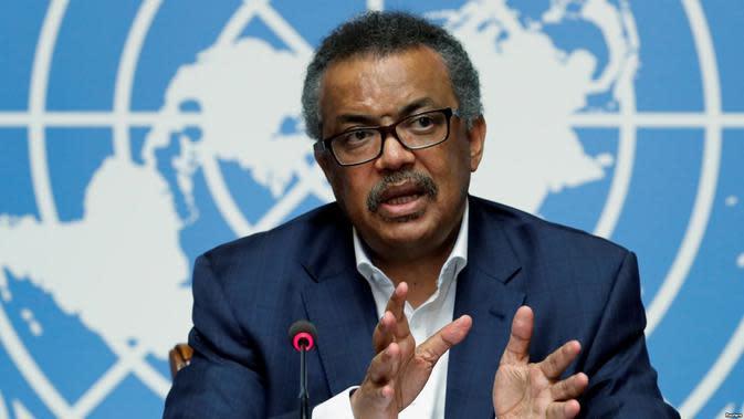 Direktur Jenderal WHO, Dr. Tedros Adhanom Ghebreyesus, (AFP)