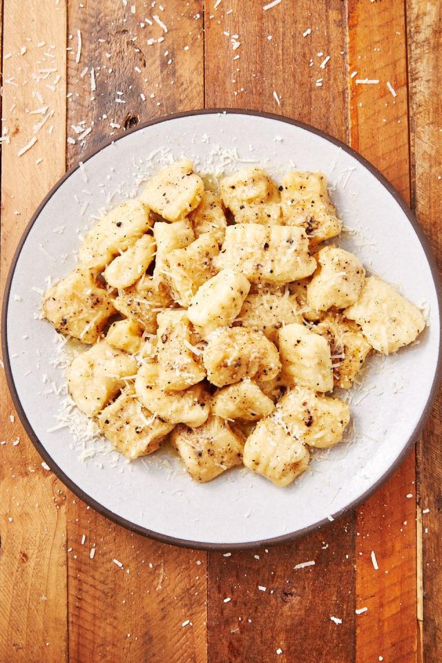 """<p>Gnocchi + cacio e pepe = an absolute dream. </p><p>Get the recipe from <a href=""""https://www.delish.com/cooking/recipe-ideas/a28576135/potato-gnocchi-recipe/"""" target=""""_blank"""">Delish</a>.</p>"""