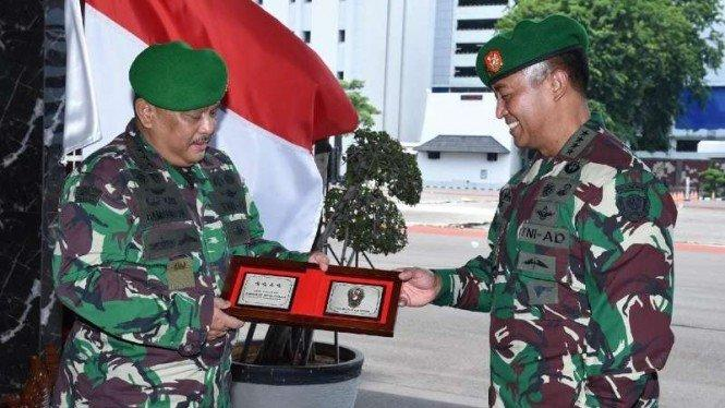 KSAD Terima Laporan Kenaikan Pangkat 9 Pati TNI AD