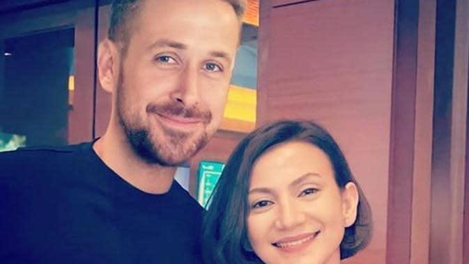 Wanda Hamidah dengan Ryan Gosling (Instagram/wanda_hamidah)