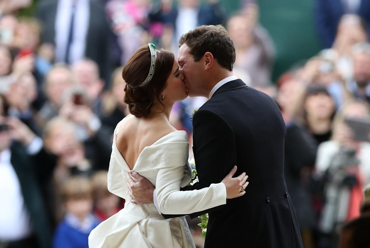 <p>After keeping the designer under wraps, the royal bride revealed that she had chosen British-based dress makers Peter Pilotto and Christopher De Vos. Photo: Getty </p>