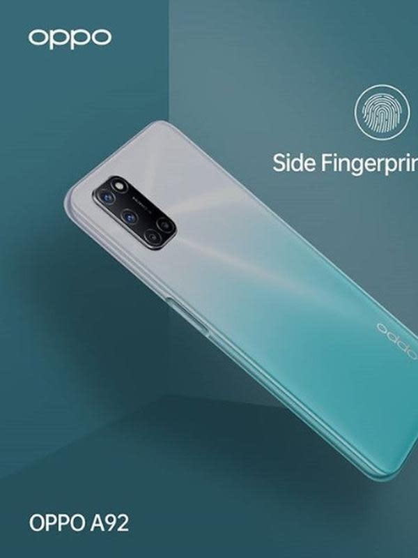 OPPO A92 mengusung Side Fingerprint Unlock yang memudahkan user untuk mengakses smartphone lebih cepat dan aman. Pembukaan kunci layar pun lebih cepat, yakni hanya 0,3 detik.