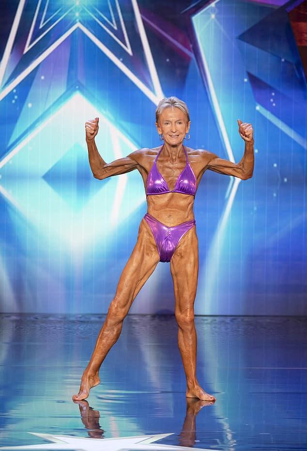 Bodybuilder Janice Lorraine, 76, imopressed the judges on Australia's Got Talent