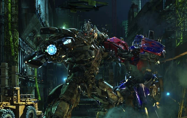 Help Optimus Prime fight Megatron at the new 3D Transformers ride