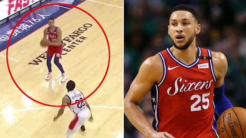 Ben Simmons' first three for the 76ers was met with excitement by basketball fans.