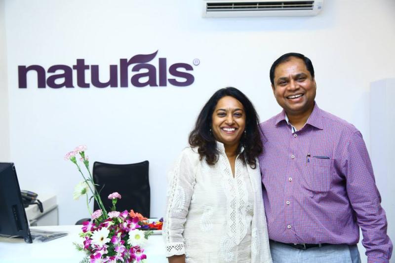 Natural spa and salon co-founders Veena Kumaravel and CK Kumaravel.