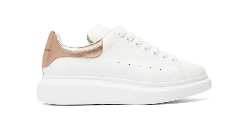 Leather trainers by Alexander McQueen, £360