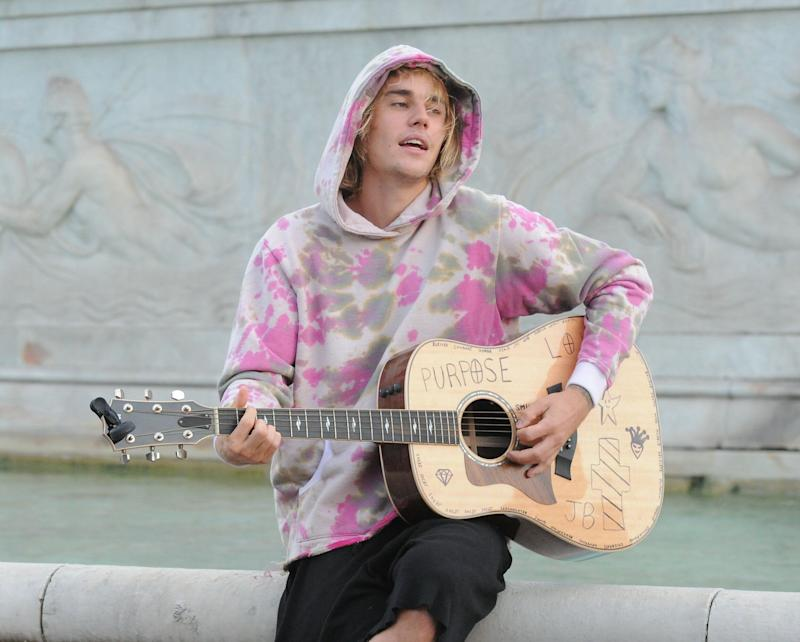 LONDON UNITED KINGDOM- SEPTEMBER 18 Justin Bieber seen out and about