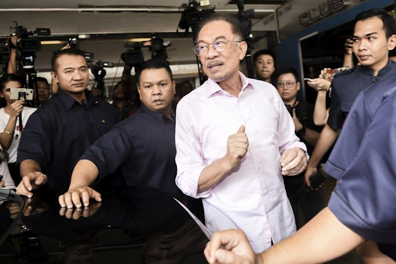 PKR President Datuk Seri Anwar Ibrahim is seen leaving the Eastin Hotel February 27,2020. — Picture by Miera Zulyana