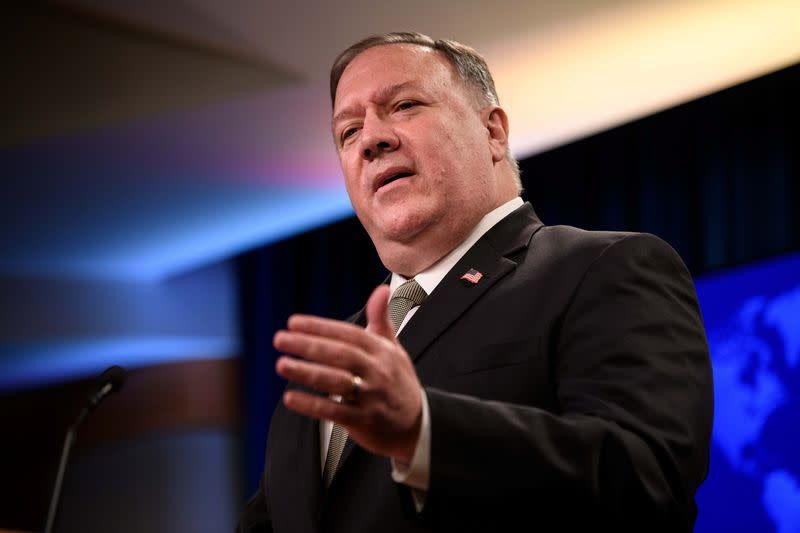 Pompeo defends RNC address, saying State Dept found it lawful