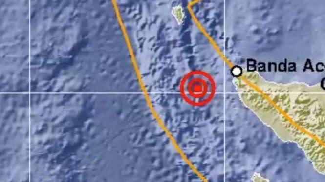 Gempa 5,5 SR Guncang Banda Aceh