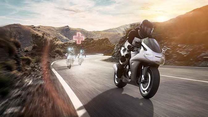 Help Connect yang dikembangkan Bosch membantu memanggil bantuan darurat untuk kecelakaan sepeda motor. (Bosch)