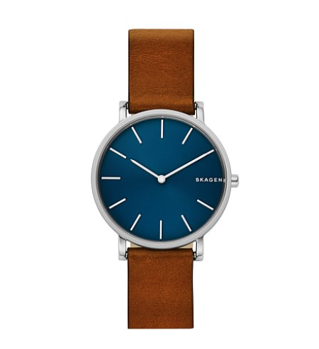 "<p>If the men in your life haven't quite jumped on the Apple Watch train yet, then a stylish simple watch could be just the gift for them. Source: <a rel=""nofollow"" href=""https://www.davidjones.com/men/21643747/Hagen-Slim-Brown-Leather-Watch.html"">David Jones</a> </p>"
