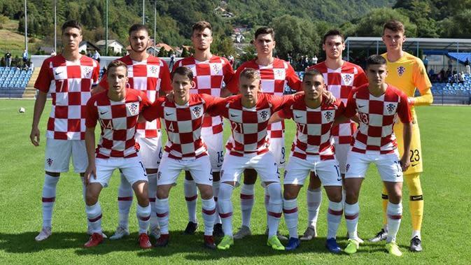 Timnas Kroasia U-19. (Dok Asosiasi Sepak Bola Kroasia).