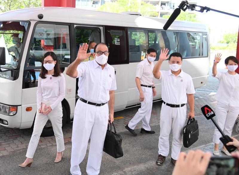 GE2020: PAP's candidates for West Coast GRC S Iswaran and Desmond Lee. (Photo: Joe Nair/Yahoo News Singapore)