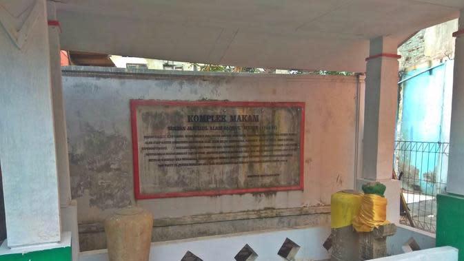 Makam Sultan Jamalul Alam Badrul Munir (Liputan6.com/Rino Abonita)
