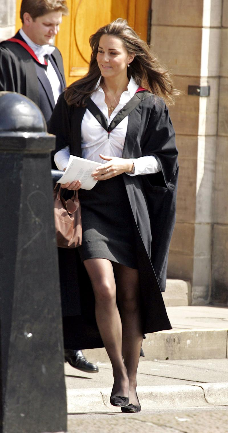 Kate Middleton Graduation Ceremony At The University Of St Andrews In Scotland. . (Photo by Mark Cuthbert/UK Press via Getty Images)