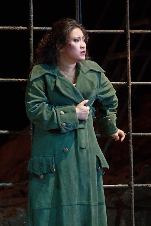 """In this Sept. 27, 2012 photo provided by the Metropolitan Opera, Guanqun Yu plays the role of Leonora during a dress rehearsal of Verdi's """"Il Trovatore,"""" at the Metropolitan Opera in New York. (AP Photo/Metropolitan Opera, Marty Sohl)"""