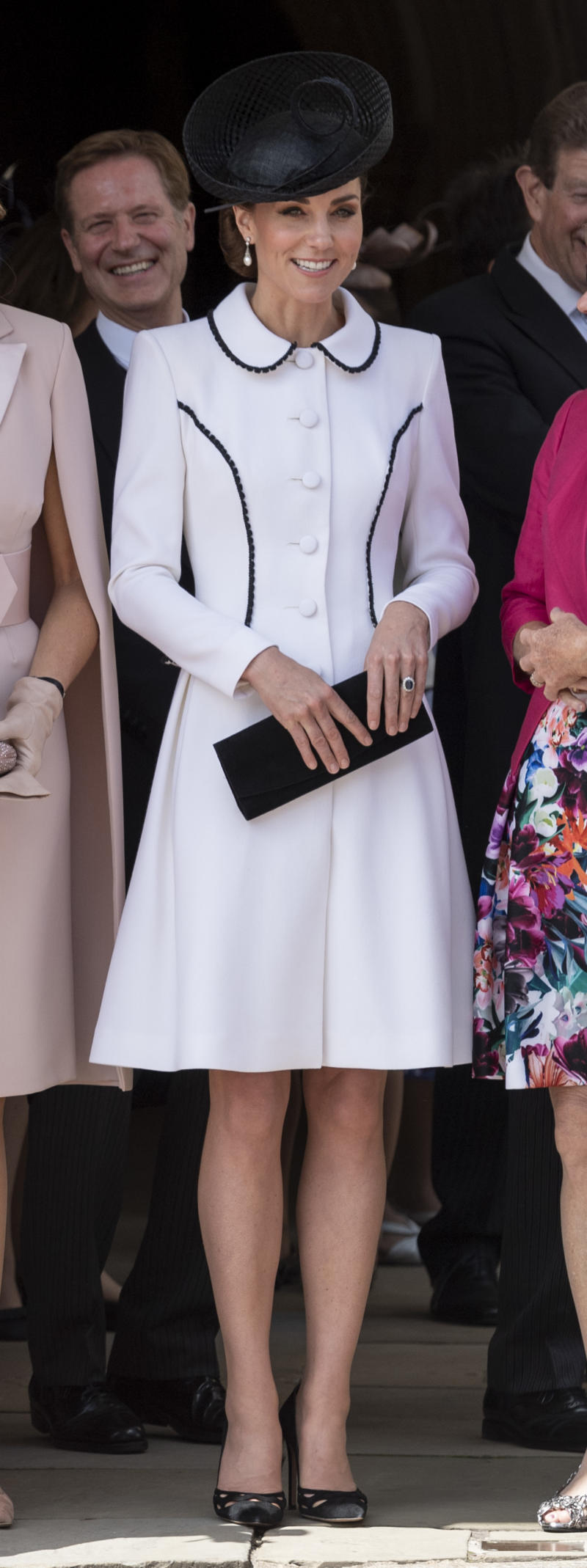 Catherine, Duchess of Cambridge attends the Order of the Garter Service at St George's Chapel on June 17, 2019 in Windsor, England.