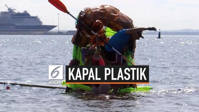 VIDEO: Kapal Terbuat dari Botol Plastik Berlayar di Rusia