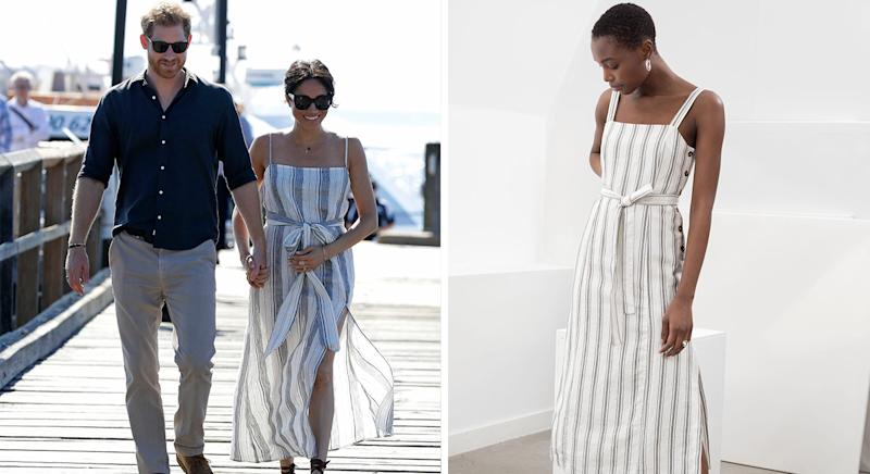 & Other Stories has created an affordable alternative to Meghan Markle's reformation dress [Photo: PA/ & Other Stories]