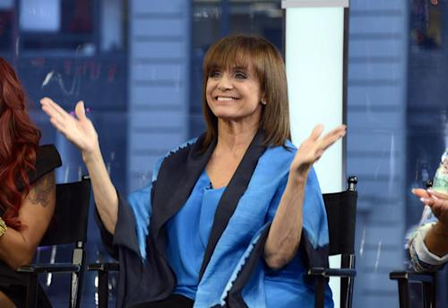 "This image released by ABC shows actress Valerie Harper on ""Good Morning America,"" Wednesday, Sept. 4, 2013 in New York after it was announced that she will be one of 12 celebrities competing on ""Dancing with the Stars."" The celebrity dance competition series premieres on Sept. 16. (AP Photo/ABC, Ida Mae Astute)"