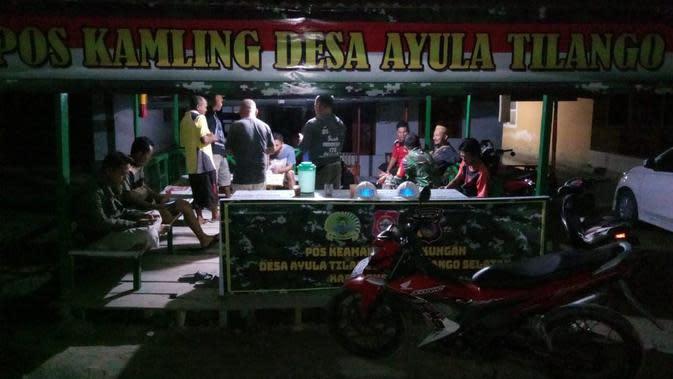 Poskamling ala Barak Militer di Gorontalo, Bikin Maling Berpikir Dua Kali
