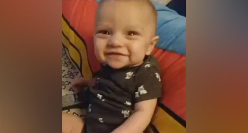 The 8-month-old baby (pictured) was smothered