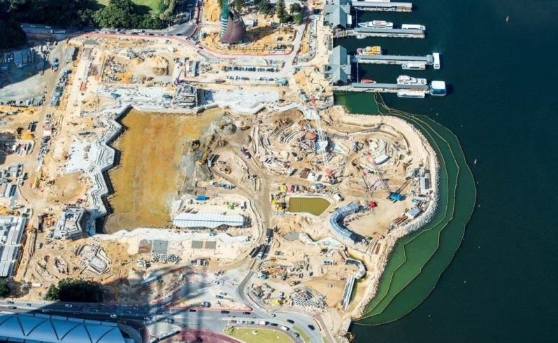 Rare look at Elizabeth Quay construction