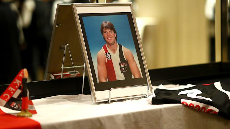 Tributes to Danny Frawley, pictured here during the St Kilda best and fairest awards.