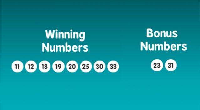 The winning numbers from Draw #931 on Thursday February 22, 2018. Source: Lotterywest
