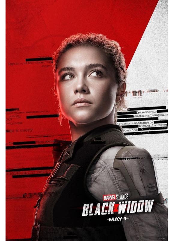 Florence Pugh sebagai Yelena Belova di Black Widow. (Foto: Instagram @black.widow)
