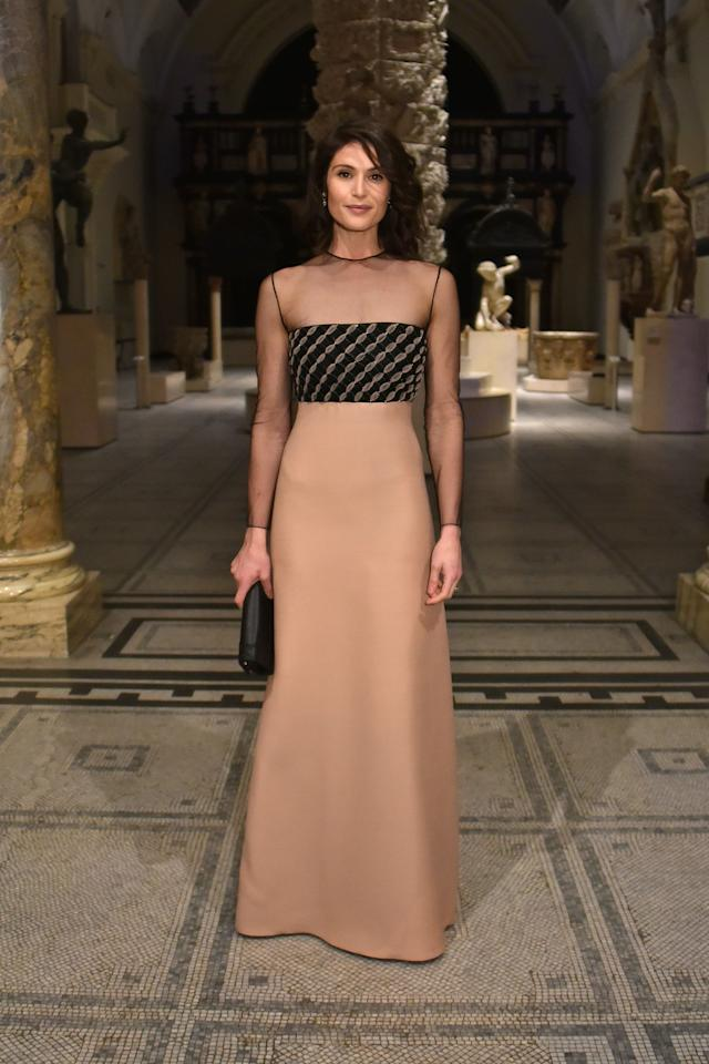 <p>Gemma Arterton was one of the best dressed stars to attend the 'Christian Dior: Designer of Dreams' dinner on Januay 29. <em>[Photo: Getty]</em> </p>