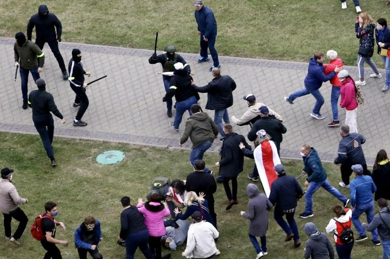 Dozens detained at Belarus opposition protest